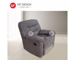 MF DESIGN REED SINGLE SEAT RECLINER CHAIR/SOFA(DARK GREY)(FARBIC)