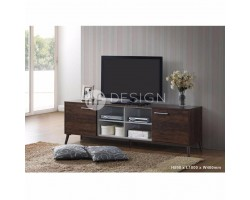 MF DESIGN DENNIS 6 FEET TV CABINET (SOLID WOOD LEG)
