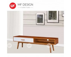MF DESIGN JOSEPH FULL SOLID WOOD 6 FEET TV CABINET ( OAK )