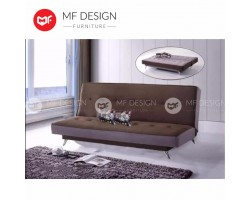 MF DESIGN LAFIO Fabric Upholdstery 3 way adjustable SOFA BED / 3 SEATER SOFA / SEATER SOFA (BROWN)