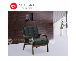 MF Design Norway 1 Seater Sofa (PU) ( Leather) ( Scandinavian ) (Solid Wood)
