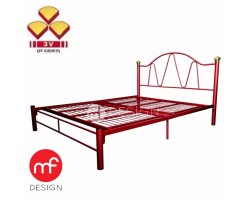 MF DESIGN Promo 3v Metal Queen Size Bed (RED)