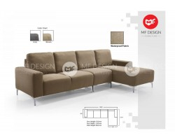 MF DESIGN CARLISSA L SHAPE SOFA ( 4 SEATER )