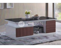 MF DESIGN ARTEMIS 4 FEET COFFEE TABLE (*DARK BROWN)