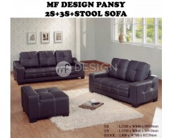 MF DESIGN PANSY 2S+3S+STOOL SOFA