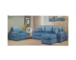 MF DESIGN DAVID 3 SEATER WITH CHAISE + 1 SEATER SOFA