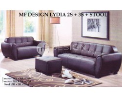 MF DESIGN LYDIA 2 SEATER + 3 SEATER + STOOL SOFA
