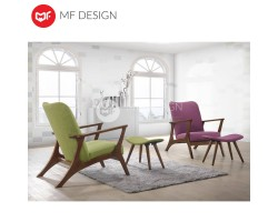 LOVE ARMCHAIR AND STOOL ( PURPLE OR GREEN)