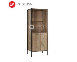 MF DESIGN MICHAEL CRUDE WOOD DESIGIN BOOKCASE DISPLAY CABINET