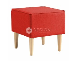 MACAROON SQUARE STOOL (RED)