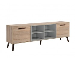 MF DESIGN IVEN SOLID WOOD TV CABINET (6 FEET)
