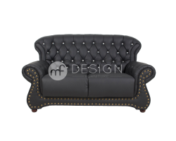 MF DESIGN CHESTERFIELD HIGH BACK 2 SEATER SOFA (CASA LEATHER WITH DIAMOND)