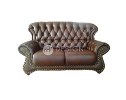 MF DESIGN CHESTERFIELD HIGH BACK 2 SEATER SOFA (CASA LEATHER)