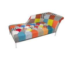MF DESIGN PRINCESS PATCHWORK CHAISE LOUNGE CHAIR